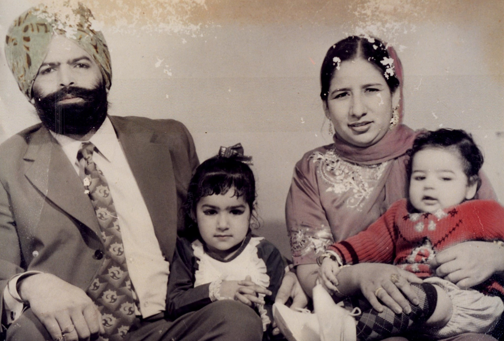 Ajit and Gurdev with their two Youngest Children