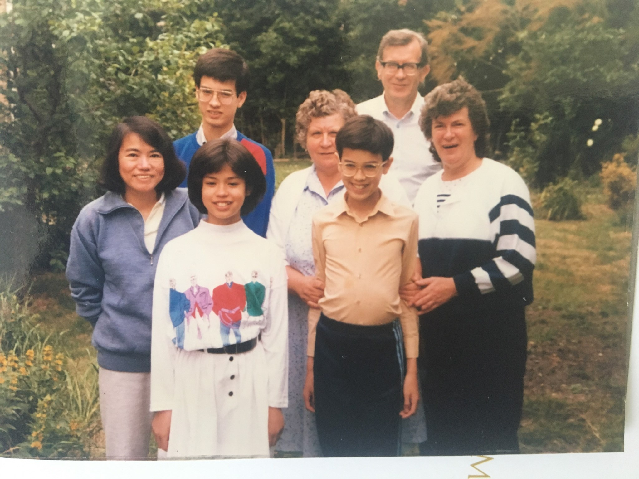 Elwyn and family in the 1980s