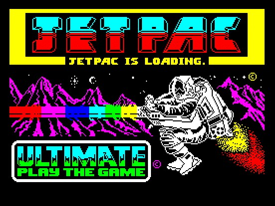 zx Jetpac 1983 Ultimate Play The Game 16K