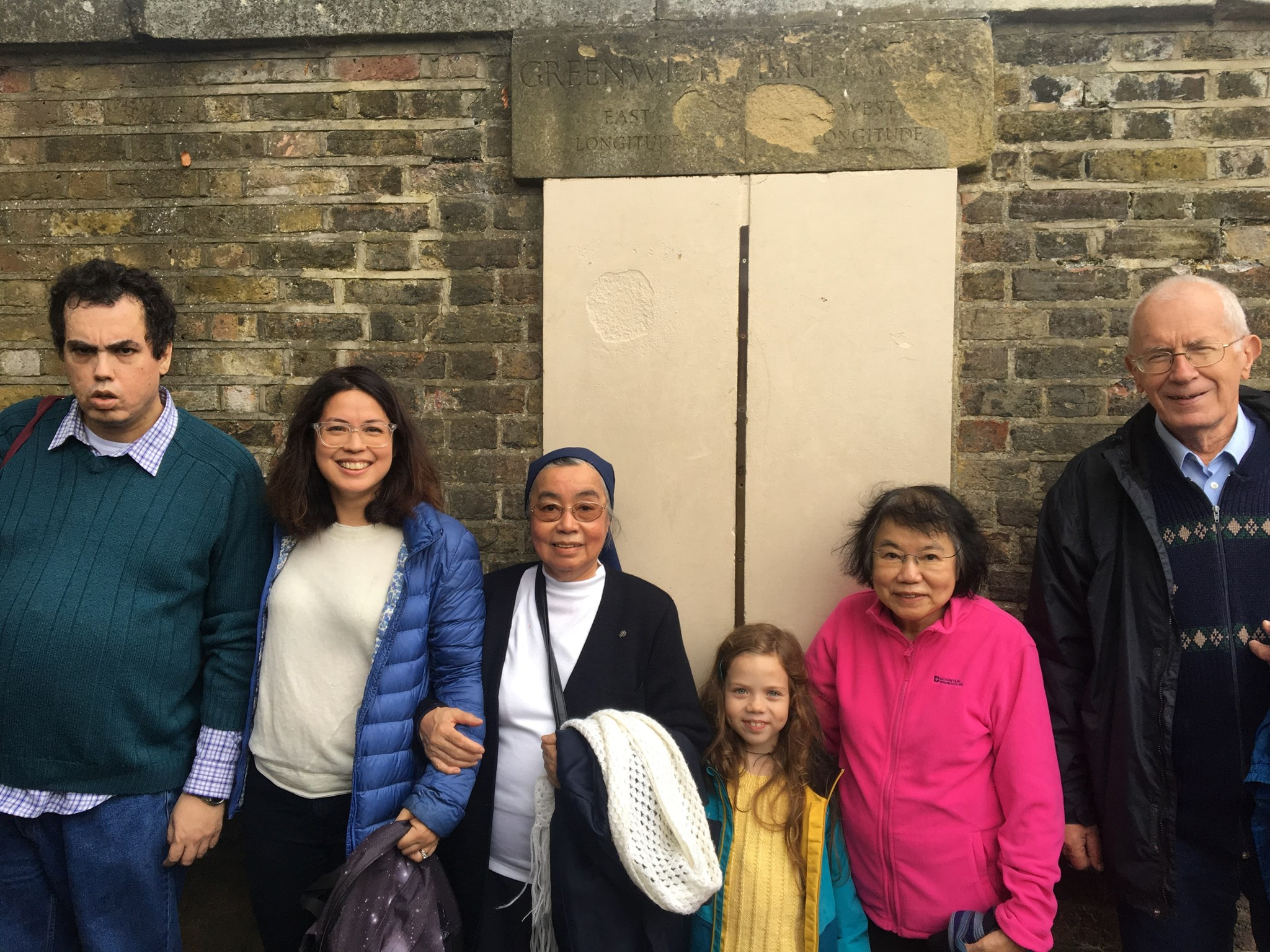 Elwyn and family at Greenwich