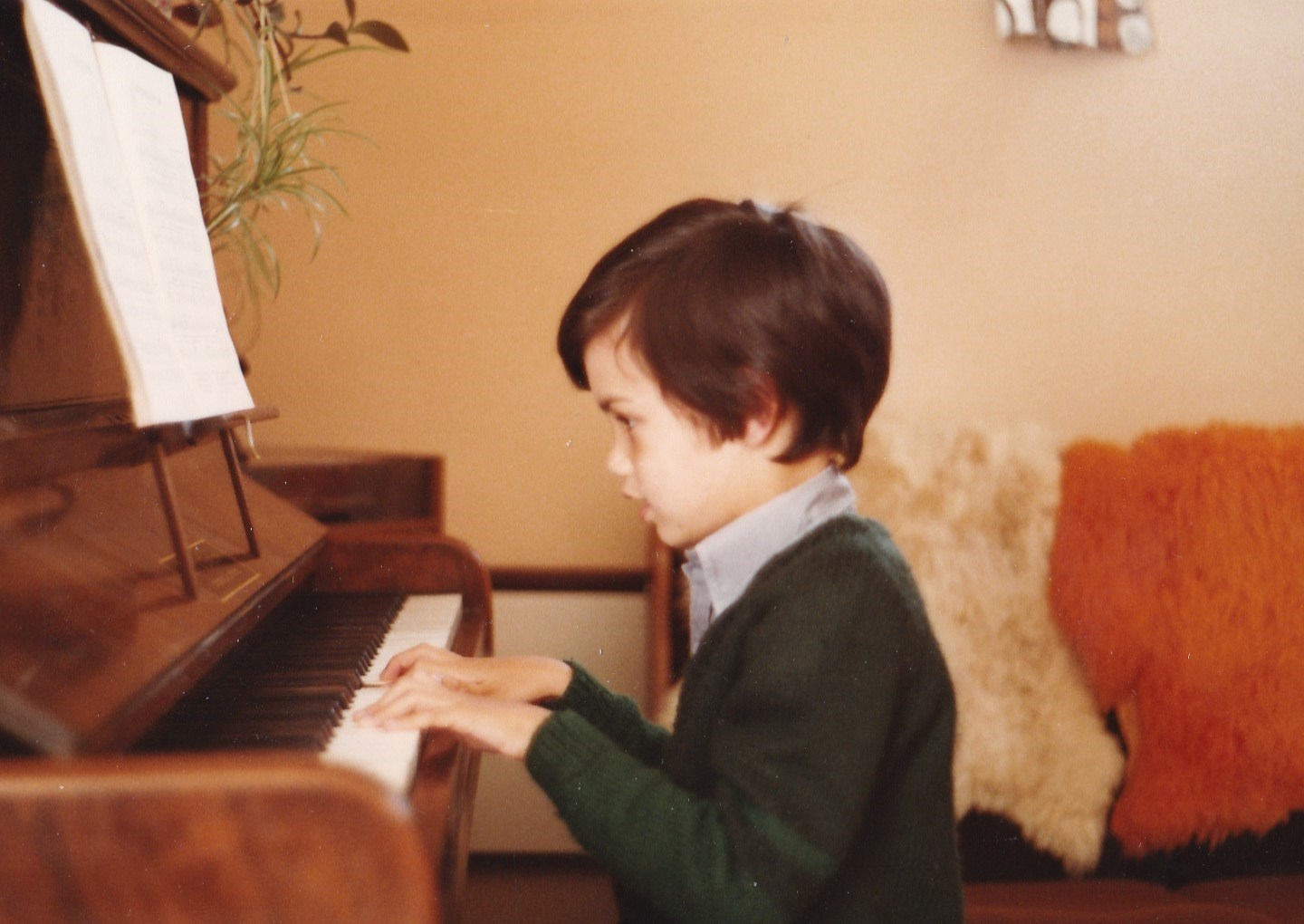 Elwyn at the piano