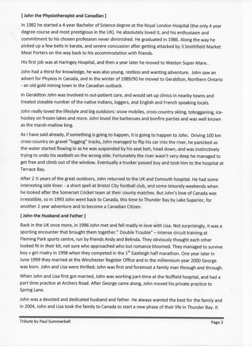 John Summerbell Tribute page 3 of 4 - download to read