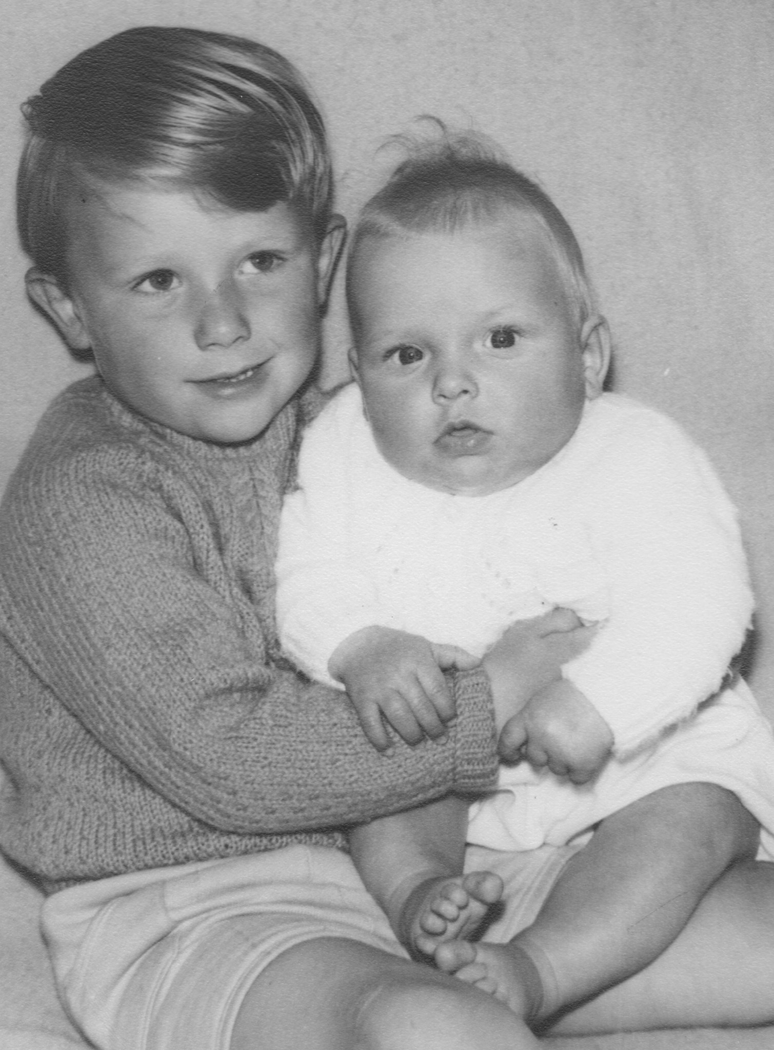 Baby John with his proud brother Paul