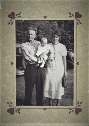 1938, Beth with Lee Edward and Bertha (Mum and Daddy)