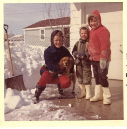 Beth with daughters Amy &  Julie. Winter 1964-65