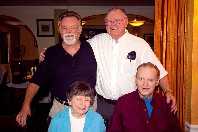 Dad with his 2  brothers Rick and George and his lovely Mom, Hazel.