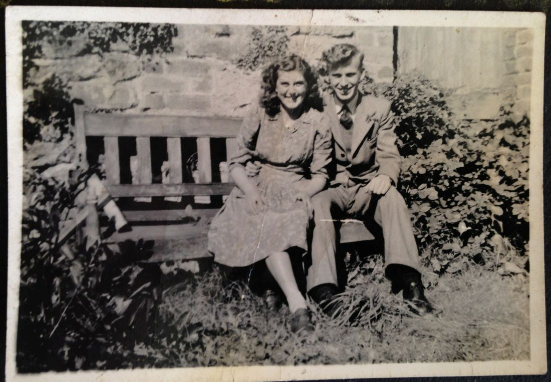 Joan Golightly and Lawrence Tully, courting in Wolsingham.