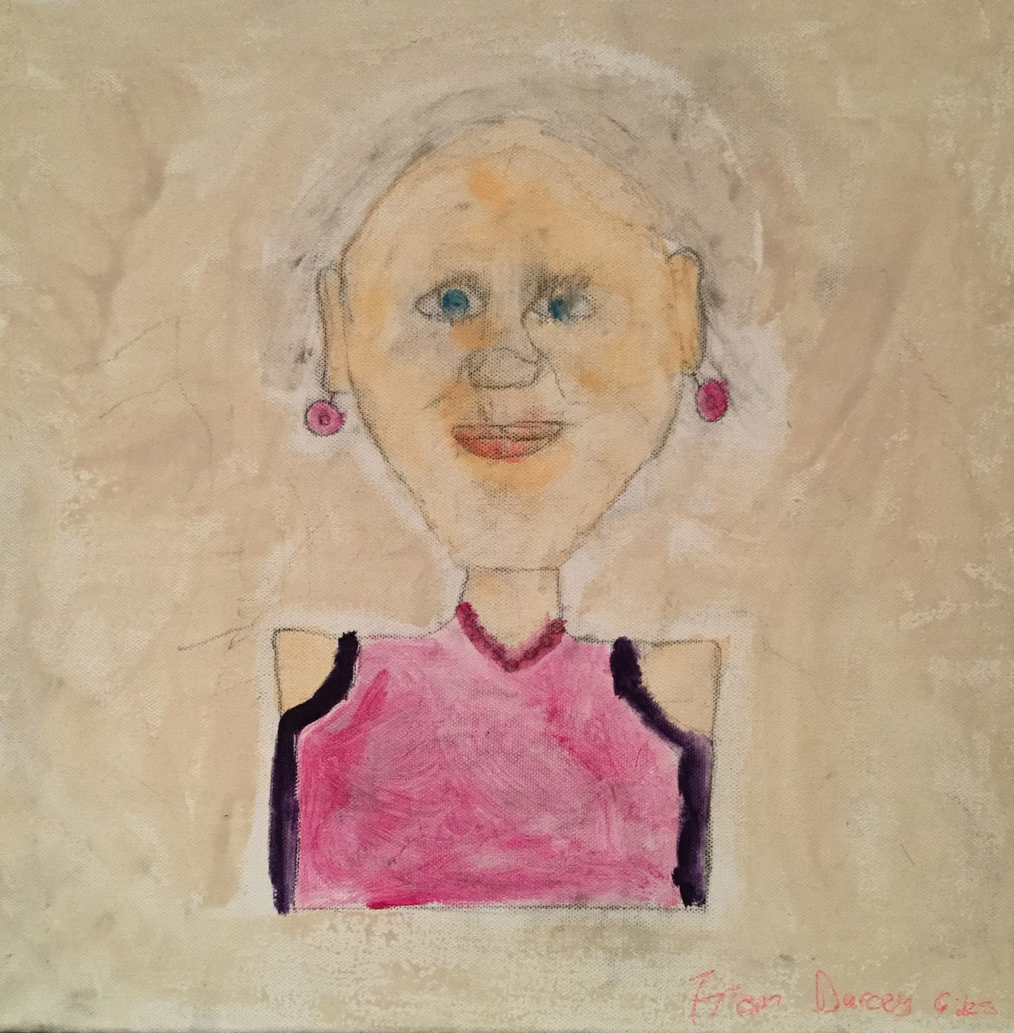 Great Gran, painted by Darcey 29.10.2012, aged 9