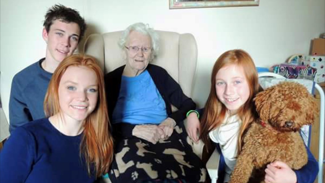 Thank you Little Granny for the fun times in Thame love you always Oliver, Alice & Rosie (& Alfie)