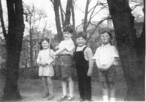 Didi with Cousin Mike,  brother Patrick,  and Cousin Ged 1950s
