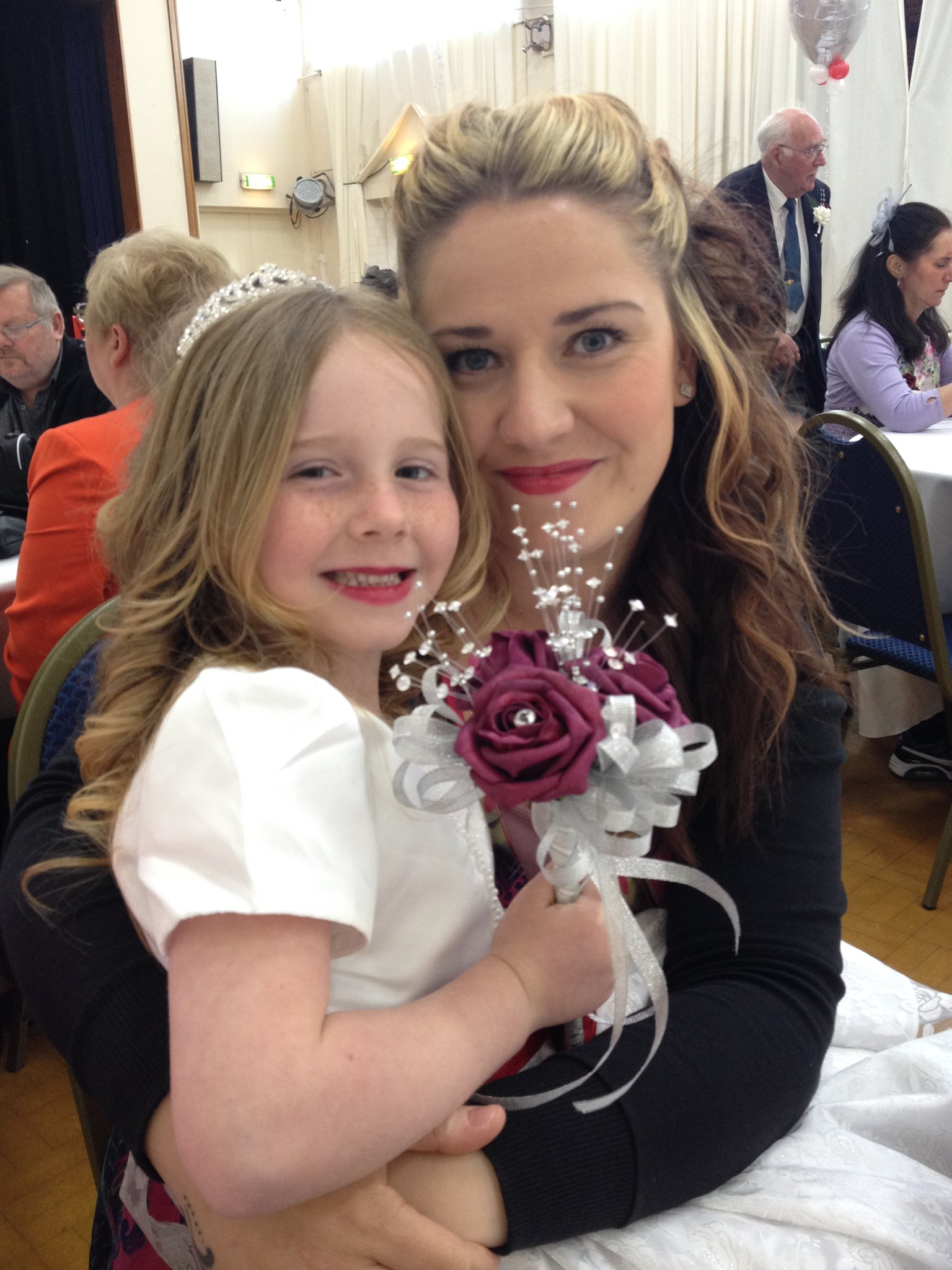 Me and your cousin Jessica as a bridesmaid. A princess just like you xx