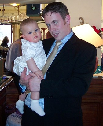 A very proud day, when I became Harry's Godfather.