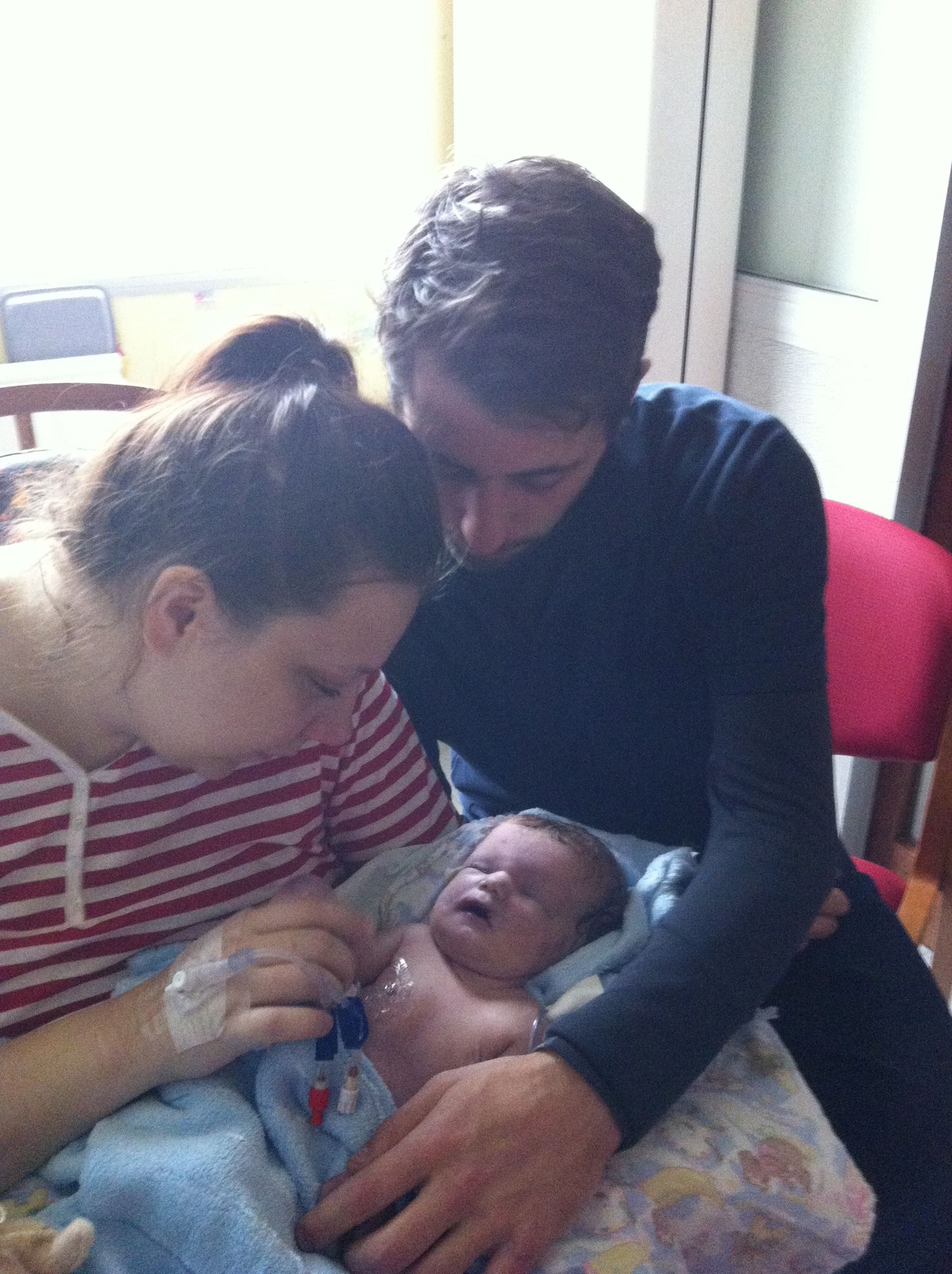 Midwife caught our Moments together, so Thankful.