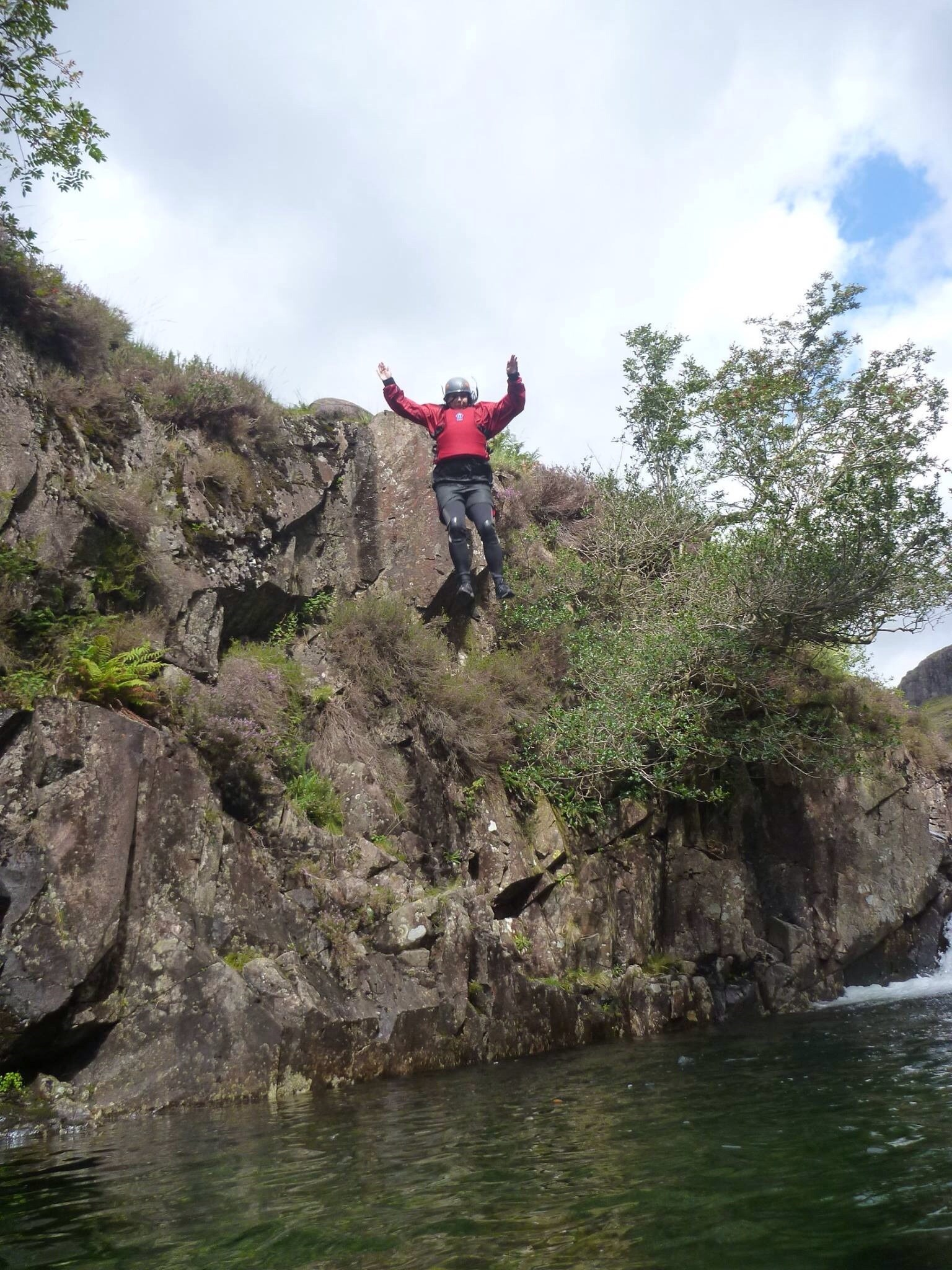 One of many jumps we completed on River Esk