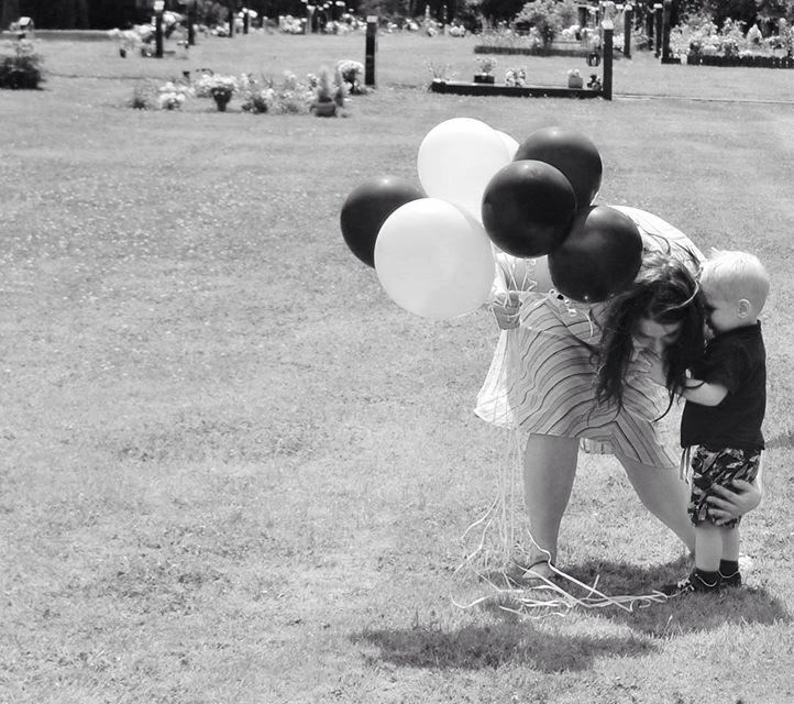 Wanting to help release the balloons aww :)