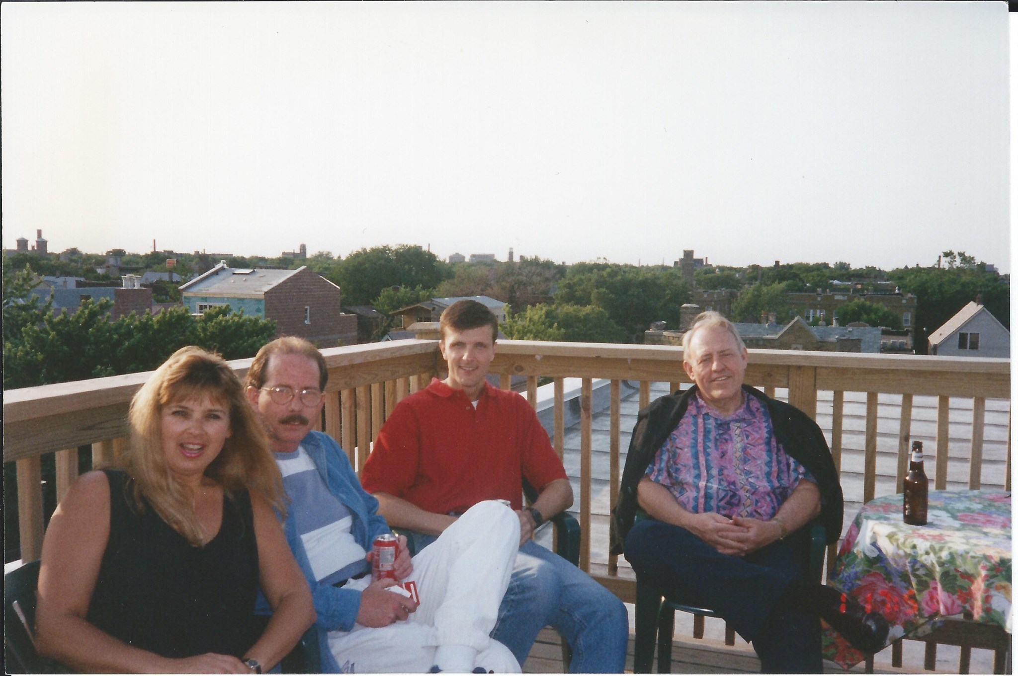 Mike with Michael Smyth, Harlan Terson and Gloria Wagner in Chicago