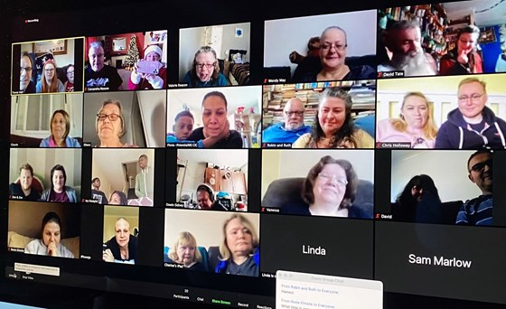 Zoom chat with the Oak family 20th December 2020