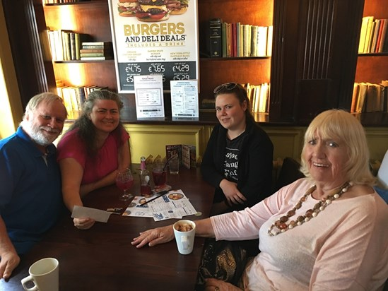 26th August 2017. The Ware family and Marian celebrating with Mark and I at our 25th Wedding Anniversary.