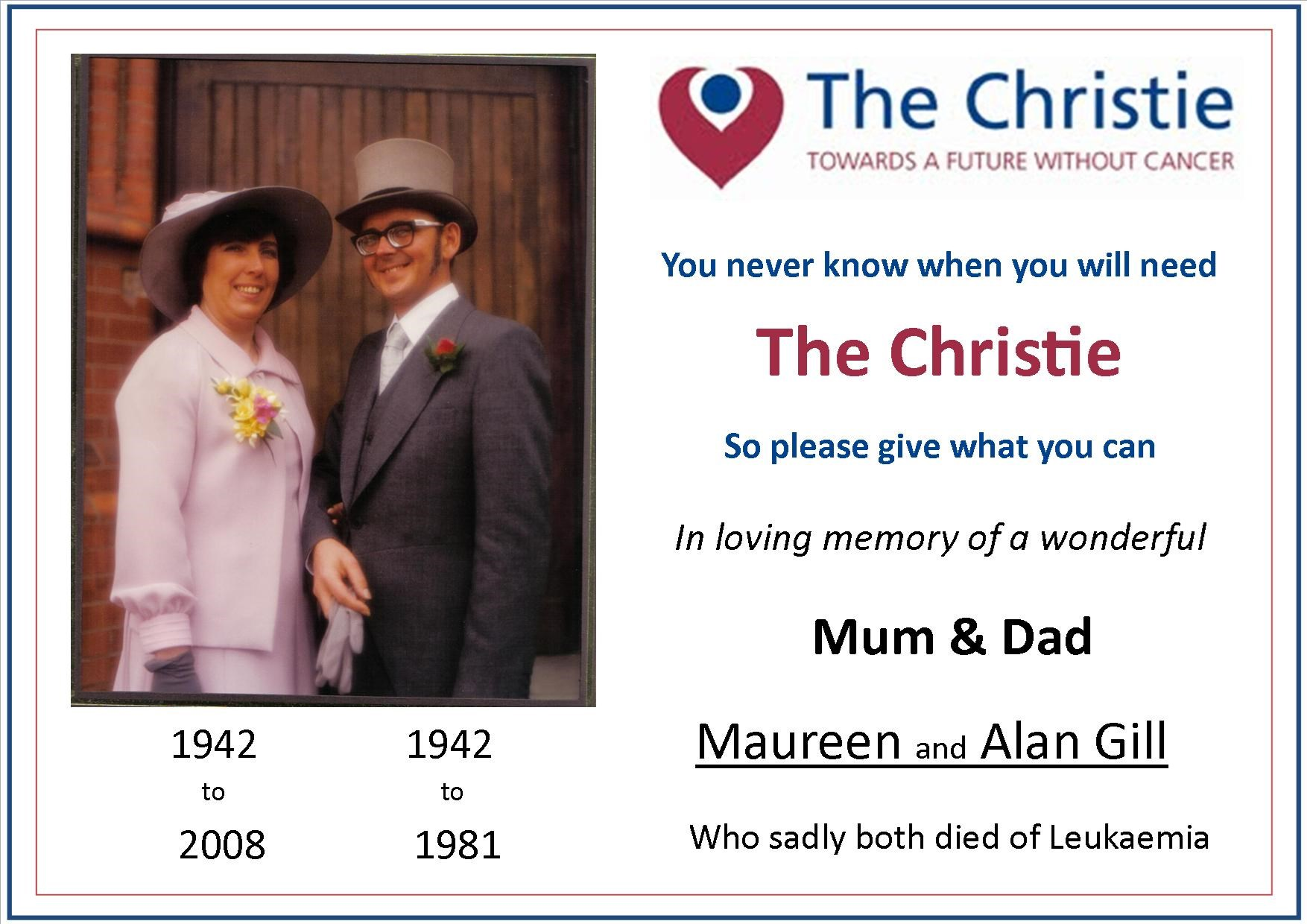 Mum and Dad Christie poster