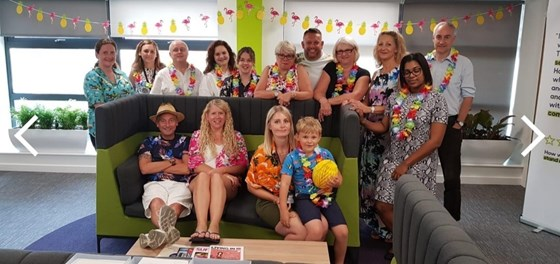 Hawaiian Day for Mels birthday - August 2019