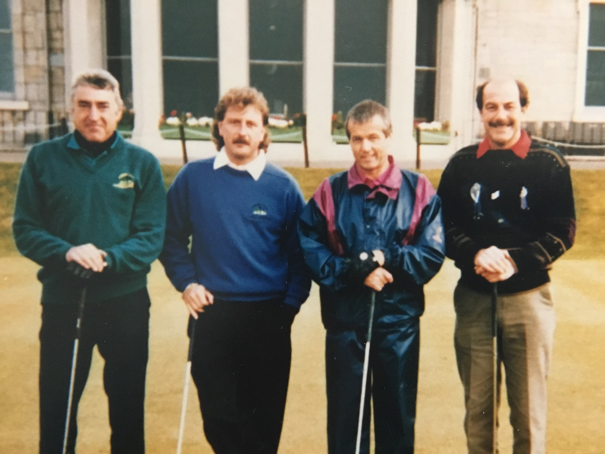 at St Andrews Golf Club 1993. Happy times.