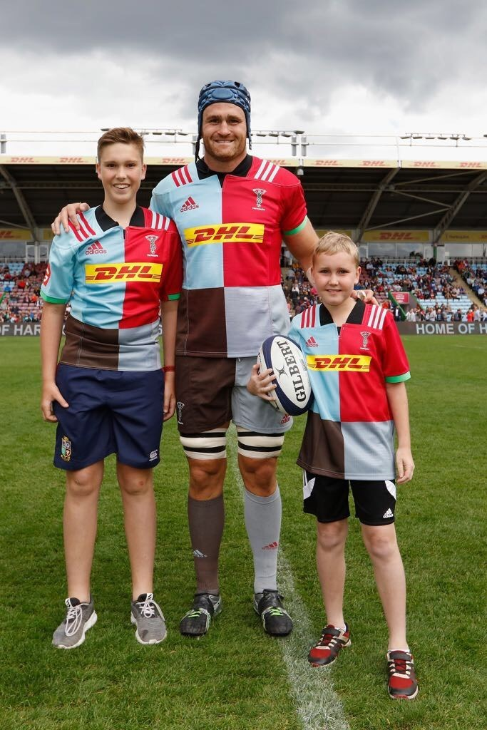 Harlequins mascot Aug 2017