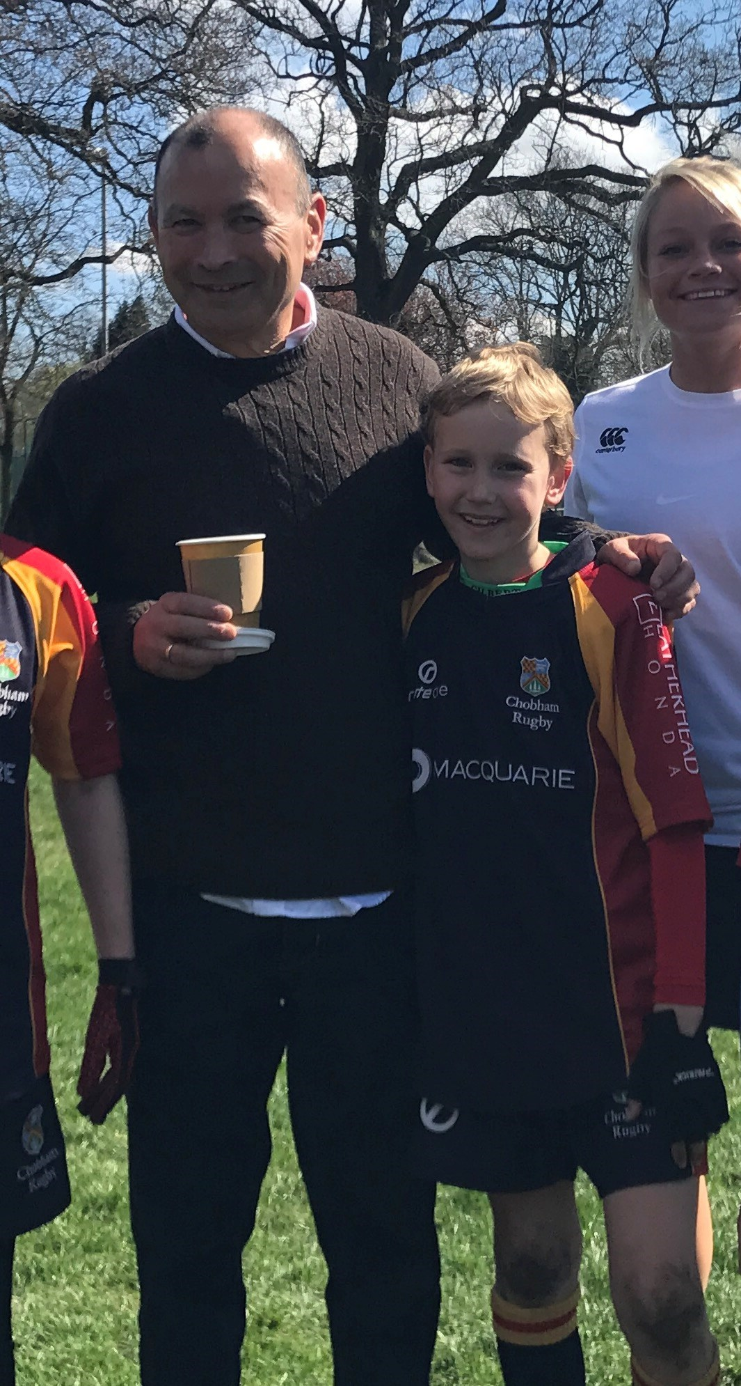 Meeting Eddie Jones at Camberley RFC festival