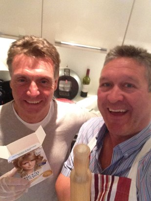 """Alan and John """"in the kitchen"""" x"""