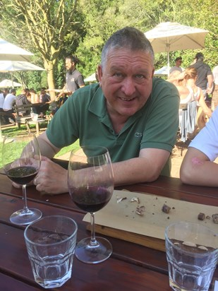 Wine tasting in South Africa - happy days