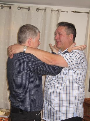 Tom receiving worldly advice from Alan in Jersey ha ha
