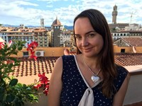 In Florence, on a trip to celebrate her 40th birthday.
