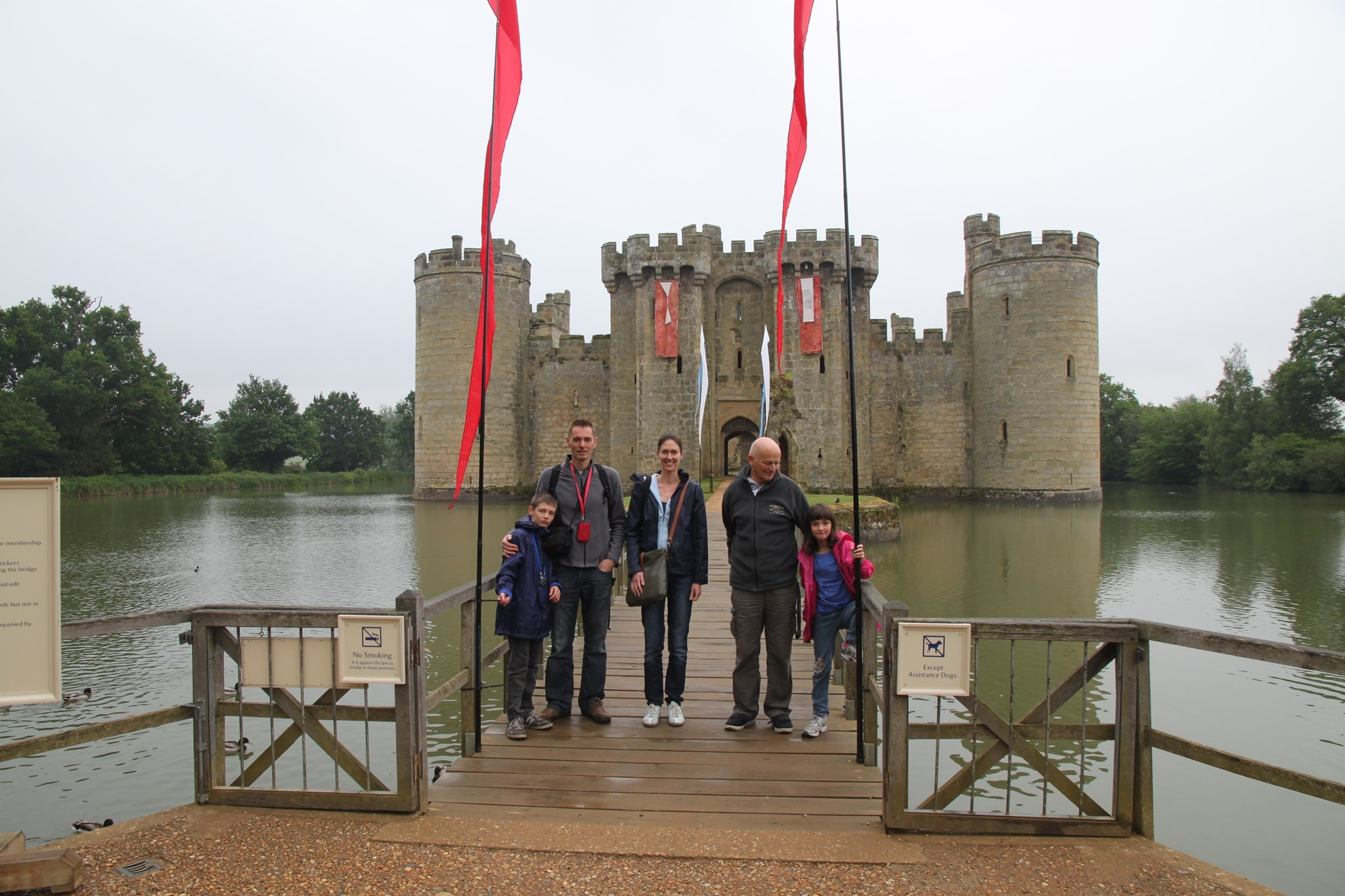 Visting Bodium Castle in May 2012
