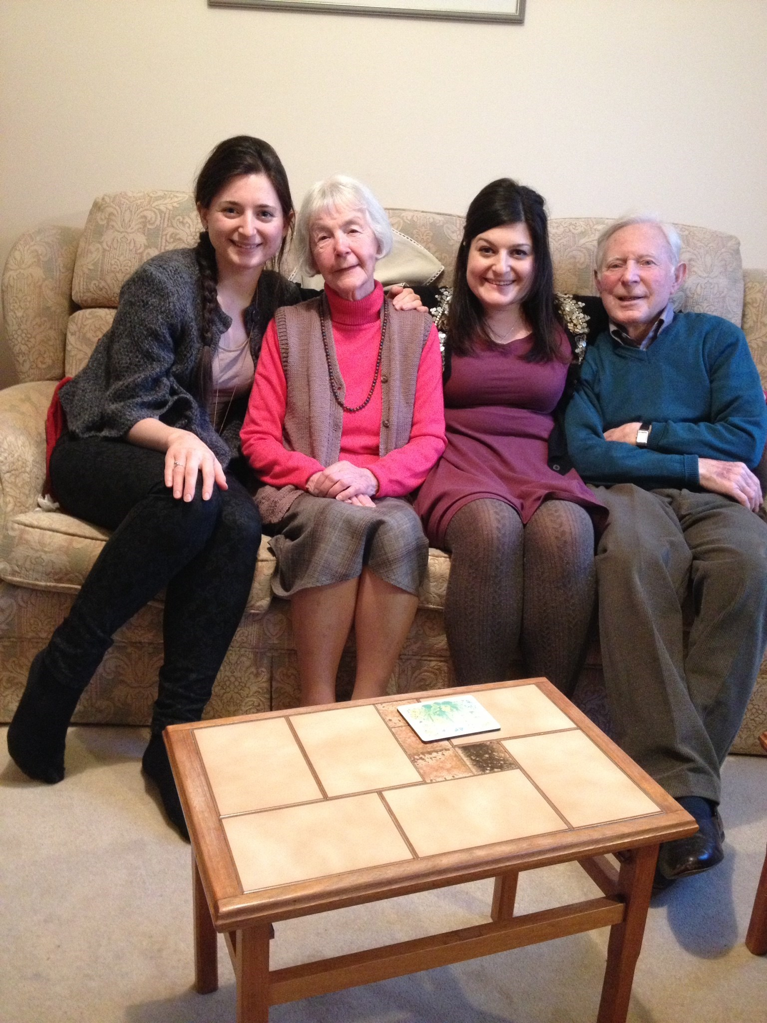 Sam , Lucille and Moira with Sorme and Pome - I'm taking the picture !