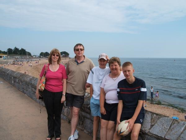 Anne,Steven,Philip,Ian and Caroline Exmouth 2005 .One of our many many trips