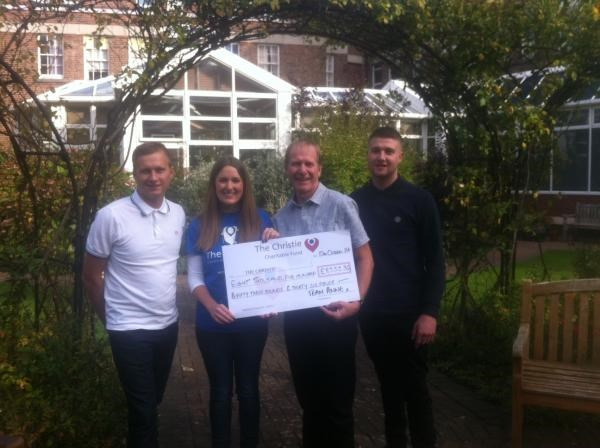 The Christie Cheque presentaton for the Summer Ball 07/06/2014