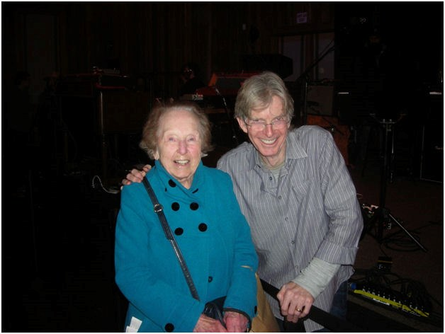 Mom with Phil Lesh, another ardent Wagnerite.