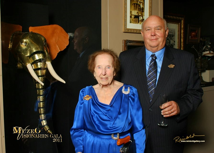 Mom and Peter's Dad Bob at the Visionaries' Gala for the Steampunk Exhibition, 2011.