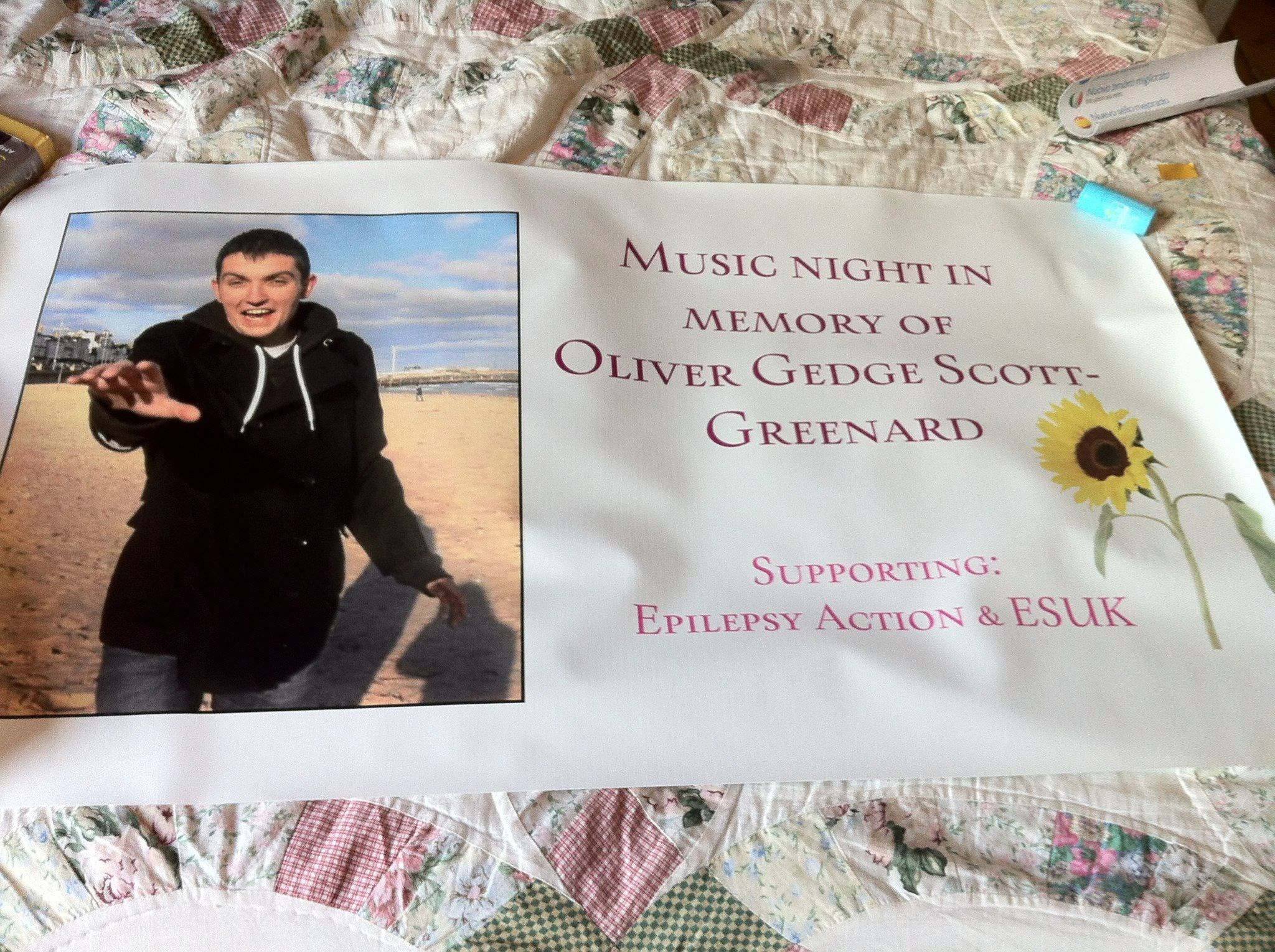 Banner for Ollie's Music night.