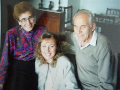 With husband, Konstanty and daughter Pilita - 1990