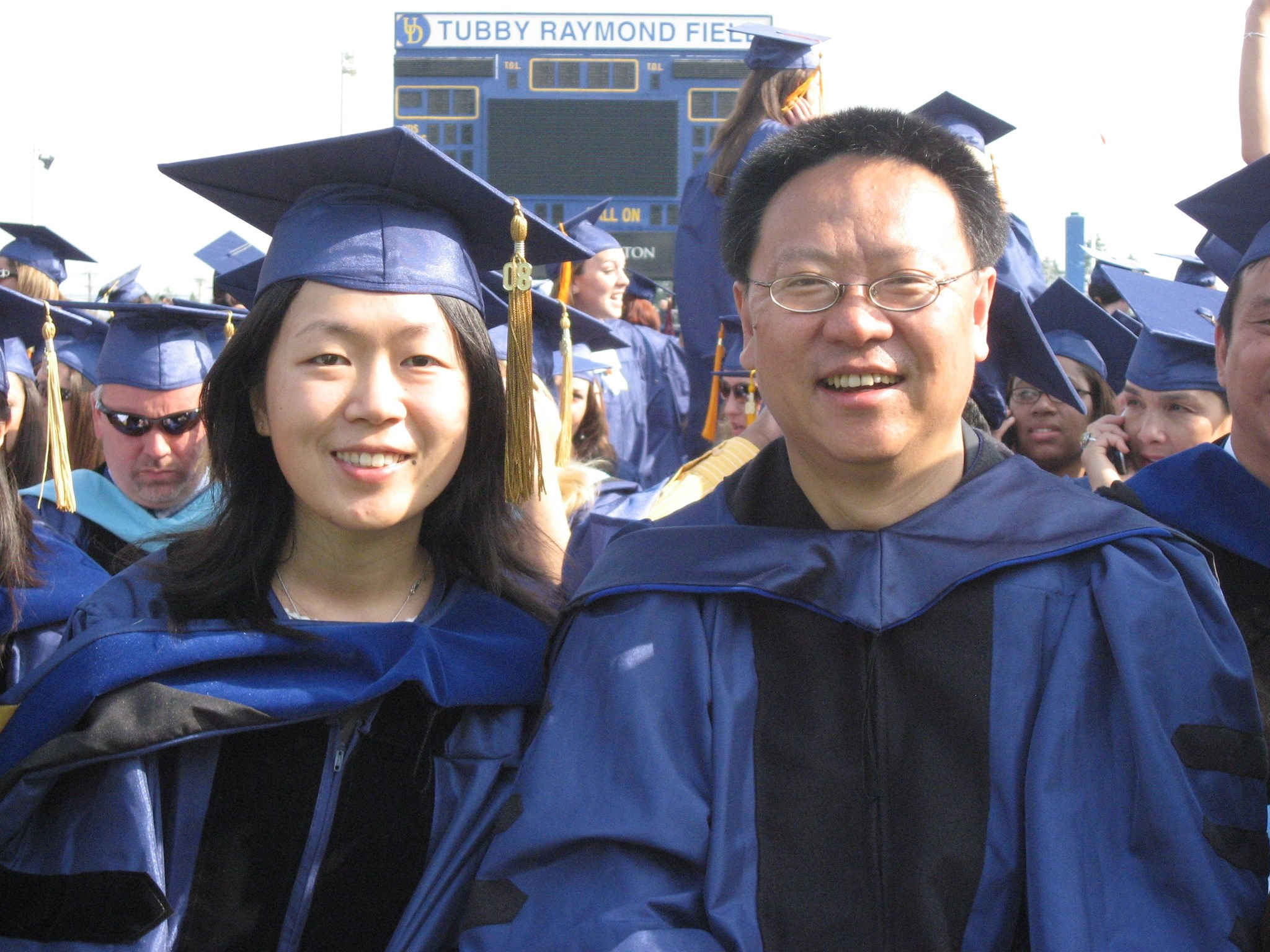 Wenbo and his first graduate student Zhang XinYi