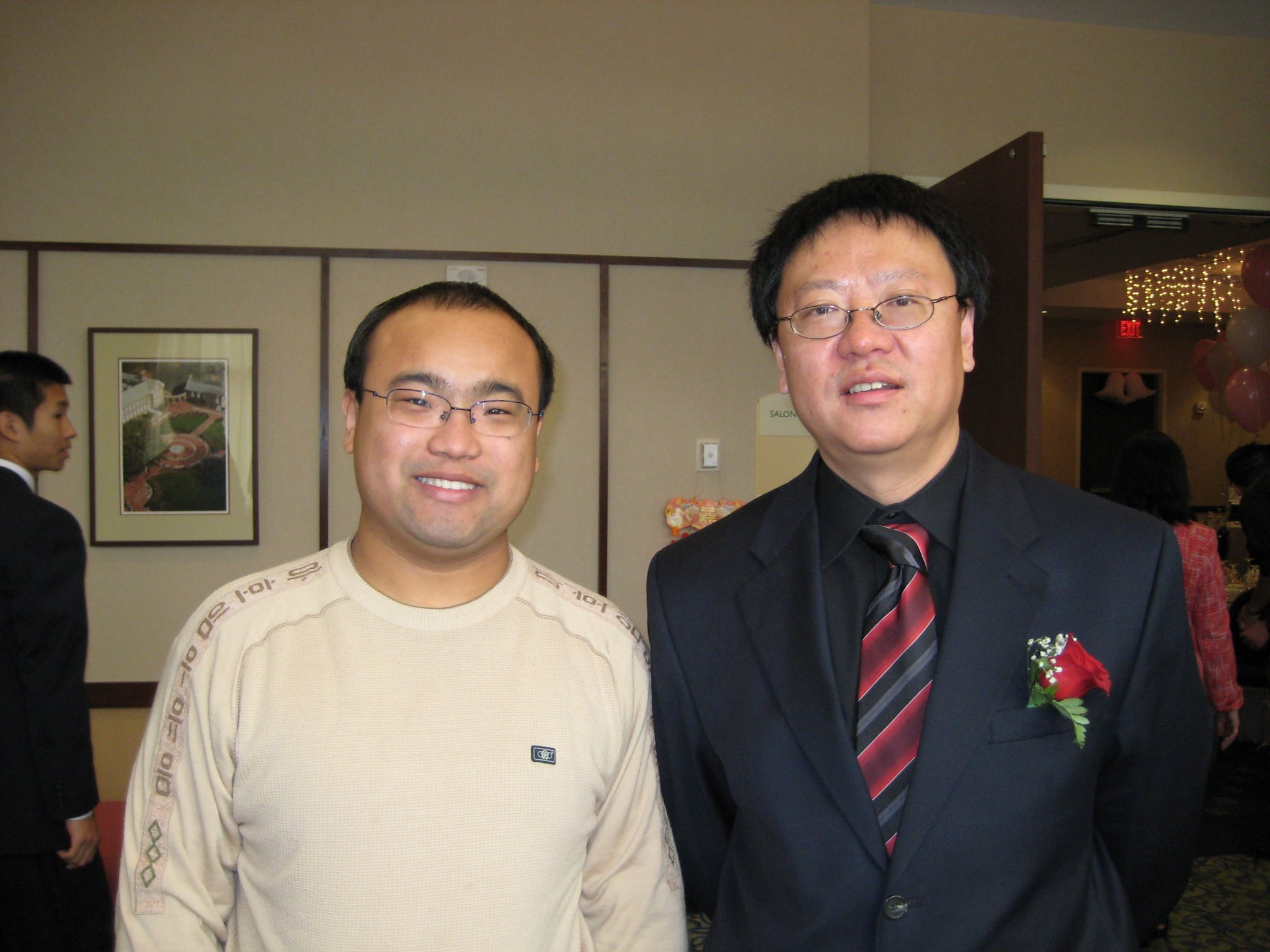 Prof Li and his Chinese student Dawei Lu