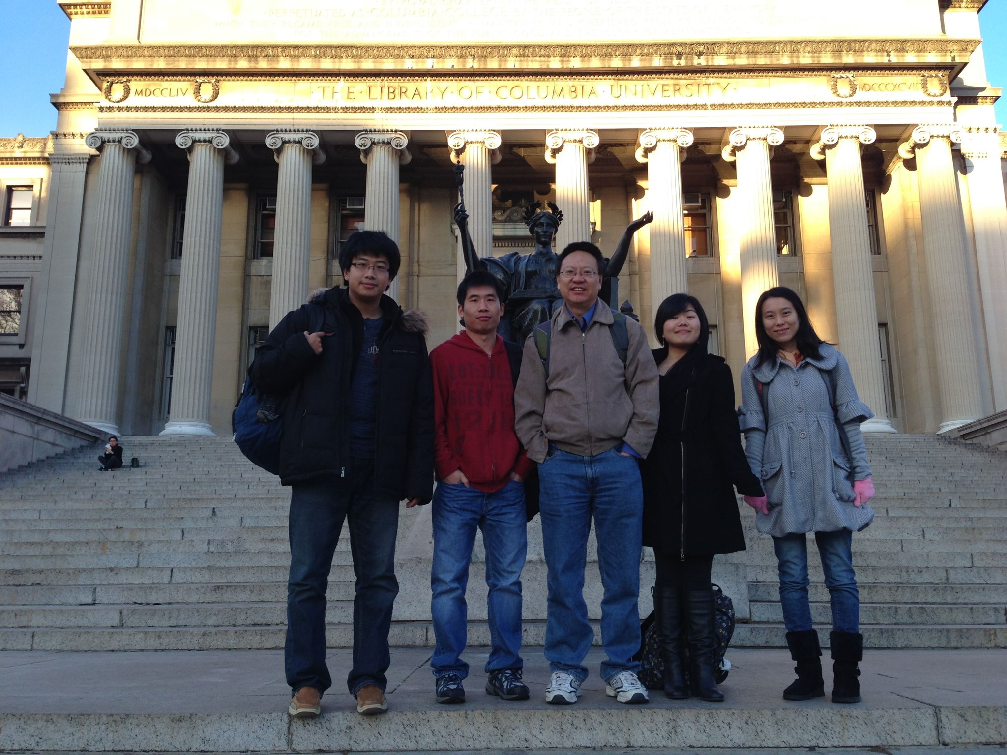 Prof. Li with his students (taken after the NEPS_2012)