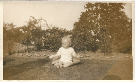 1933 Father aged 8 months Brow Head Cononley