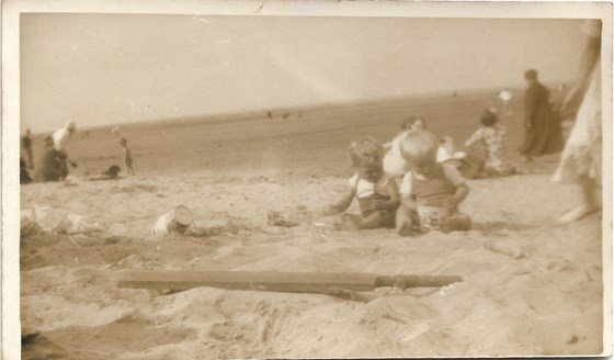1936 Summer Father with Cousin Monica Cleethorpes
