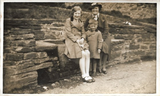 1938 Father with his Mother and Majorie Sagar, well near bottom of Nethergill