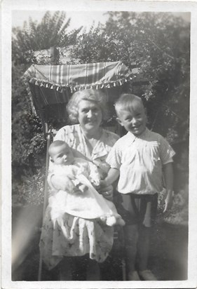 1938 Summer Father (aged 5) with Nanny and baby Pamela 21 Dixon Avenue