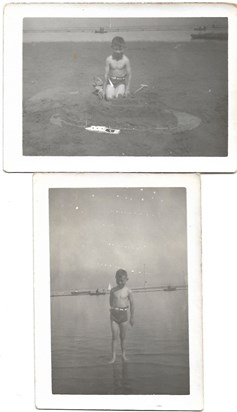 1942 Summer Father aged 9 in Morecambe