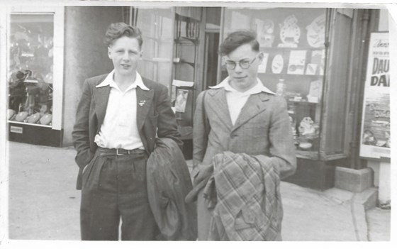 1948 Sunday School trip from Cononley to Morecambe with Peter Newbert