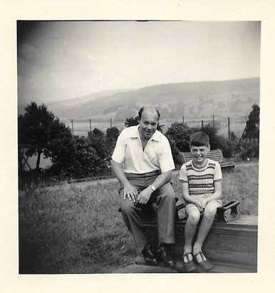 1952 Summer Father and Malcolm Glusburn Park