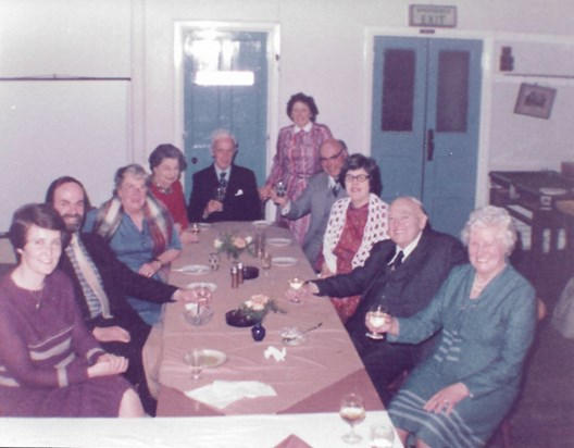 1984 Father with his family and friends